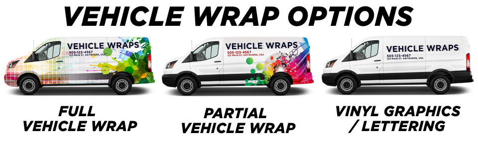 New Bloomfield Vehicle Wraps vehicle wrap options