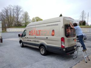 vehicle wrap and graphic installation