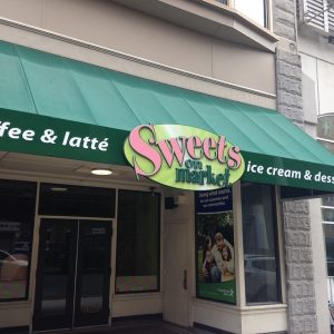 storefront dimensional lettering and awning sign