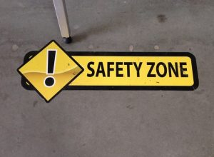 Jonestown Coronavirus Signage safety floor vinyl graphics 300x220