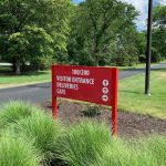 custom post and panel wayfinding sign